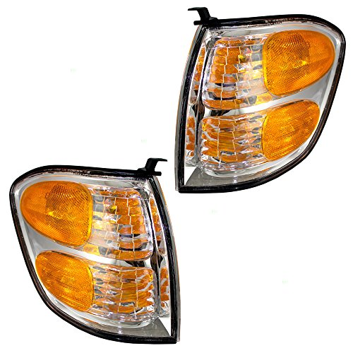 Driver and Passenger Park Signal Corner Marker Lights Lamps Replacement for Toyota SUV Pickup Truck 815200C020 815100C020 ()
