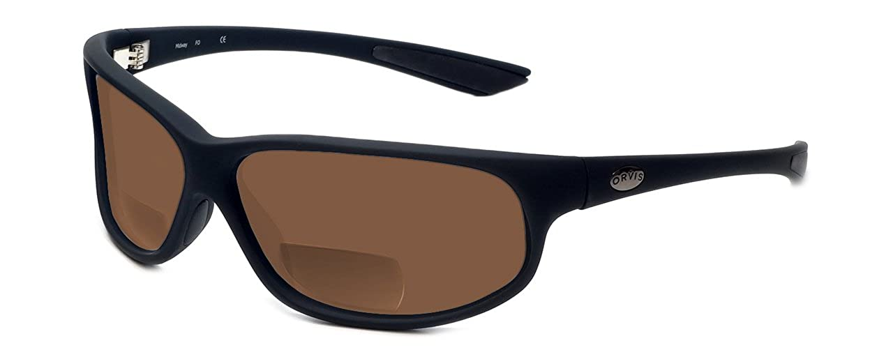 7c6dc1ed54 Amazon.com  Orvis Midway Polarized Bi-Focal Reading Sunglasses in  Matte-Black w Brown Lens +2.25  Clothing