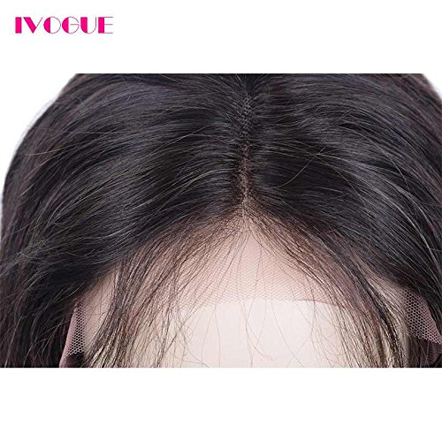 Pre Plucked 13X6inch Deep Part Lace Front Human Hair Wigs With Baby Hair For Black Women Malaysian Soft Virgin Hair (18inch) by iVogue Hair (Image #6)