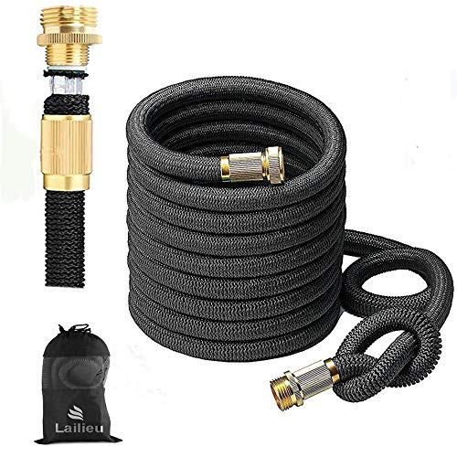 Garden Hose Expandable 50FT Water Hoses with Best Abrasion Resistance and Tension & 5002D Stronger Fiber Triple Layer Latex Expandable Garden Hoses for All Your Watering Needs(50)