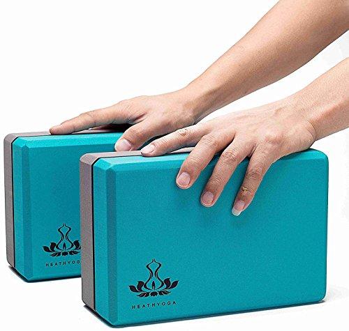 Yoga Block Density: Heathyoga Yoga Block 2 Pack And Yoga Strap Set High
