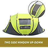 4 Person Instant Pop Up Tent Set Up Beach Waterproof Family Shelter Camping Tent Fold Waterproof & UV Protection Outdoor Gear for Hiking and Camping Travel Backpacking Picnic with Storage Bag
