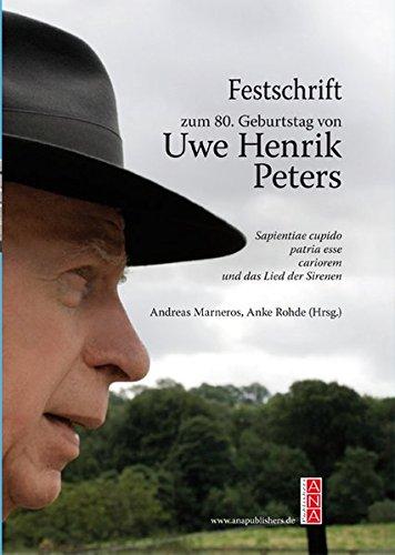 Festschrift Zum 80 Geburtstag Von Uwe Henrik Peters 9783931906146