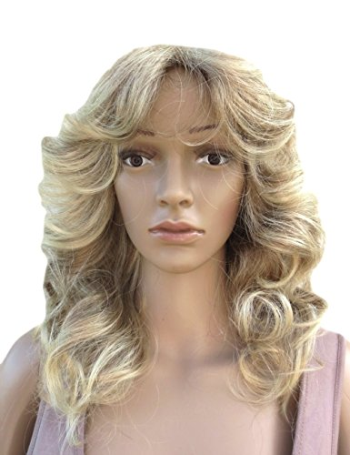 [New Style Wig Perruque Mid Length Soft Large Curled Wig. Highly Versatile 70'... Synthetic] (Farrah Fawcett Wig)