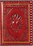 Eccolo Made in Italy 6 x 8 Inches Refillable Romance Journal, Red Heart