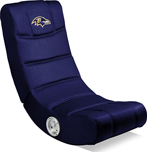 Imperial Officially Licensed NFL Furniture: Ergonomic Video Rocker Gaming Chair with Bluetooth, Baltimore Ravens ()