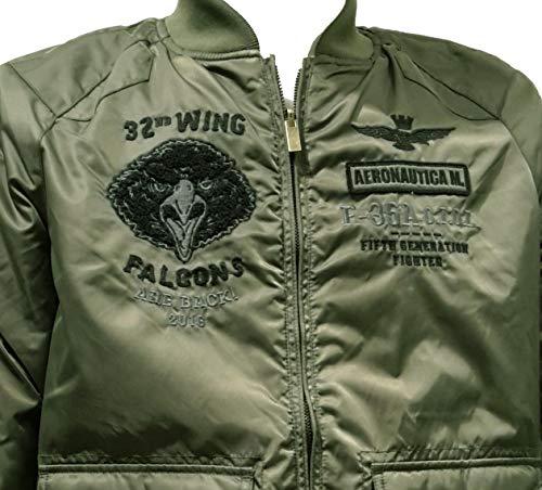 Blouson Vert Bomber Pantalon Ab1697 Militare Veste Militaire Aeronautica Pilot Homme HwC1q