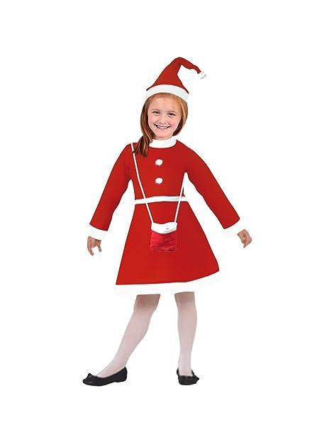 131874647 Kavya Creation Girl s Poly Cotton Santa Claus Christmas Dress (80040 ...