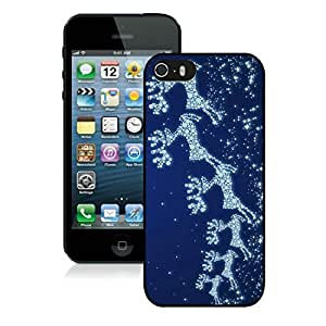 2014 Latest Snowflake Iphone 5S Protective Cover Case Christmas Deer iPhone 5 5S TPU Case 1 Black