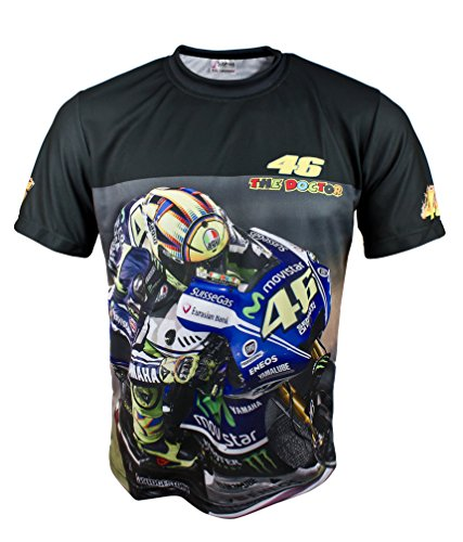 Valentino Rossi the doctor 46 Logo Black Car Tuning Fan Fashion Graphics Print Cool T-shirt