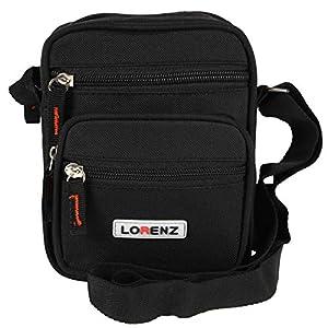 Unisex Handy Canvas Style Multi-Purpose Shoulder / Cross Body Bag with Belt Loop (Black, Khaki, Olive Green)