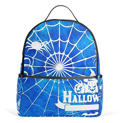 DEYYA Halloween Spider Silhouette Childrens School Backpacks Lightweight