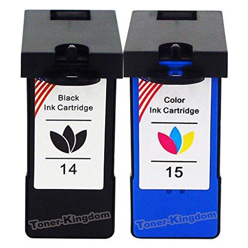 Free Toner Kingdom Compatible with Lexmark Ink Cartridges 14 - 2 Pack, 1PK Black & 1PK Color