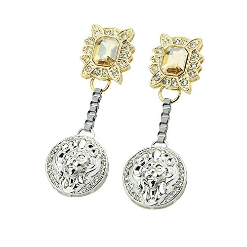 FEELONTOP 4 Color Dangle Element Earrings with Alloy Pendant Brinco Franja Gifts for Women Bijoux Boucles D'oreilles - Champagne Bijoux