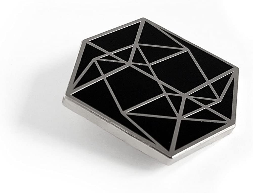 Pinsanity Tesseract Cube Enamel Lapel Pin