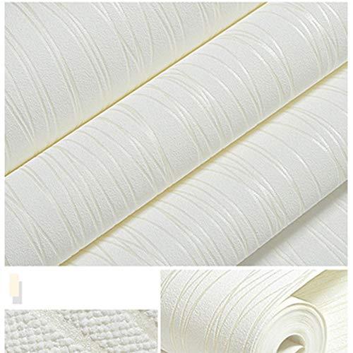 Ocamo Morden 3D Non-Woven Wallpaper Vertical Stripe Stickers for Bedroom Living Room TV Background Home Decor White