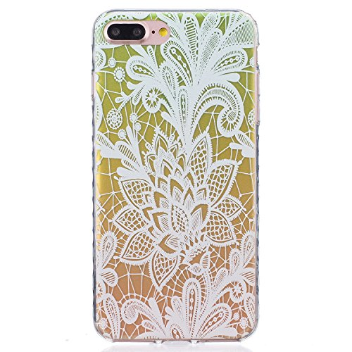 Für Apple iPhone 6 Plus / iPhone 6S Plus (5.5 Zoll) Hülle ZeWoo® TPU Schutzhülle Silikon Tasche Case Cover - BF086 / Gradient Rose