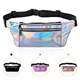KATELUO Waist Bag,Fanny Pack for Women-Pack Belt Bag Waist Pouch Travel Running Cycling Sports Bag (Silver)