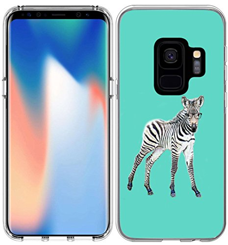 - S9 Case Zebra/IWONE Designer TPU Non Slip Rubber Durable Compatible Protective Cover For Samsung For Galaxy S9 + Kawaii Zebra Animal Pattern