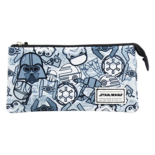 STAR WARS Pictogram - Stationery Set bag For Travel and School - with 3 - Bag Versace School