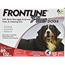 Frontline Plus Flea and Tick Control for Dogs, 89-132 lbs. 6 MO. SUPPLY