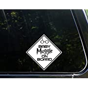 Baby Muggle On Board - 6  x 6  - Vinyl Die Cut Decal / Bumper Sticker For Windows, Trucks, Cars, Laptops, Macbooks, Etc.