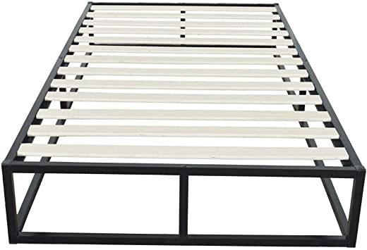 Simple Basic Iron Bed Twin Size Black