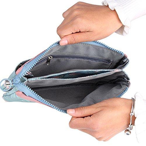 Cheerlife kleine Damen Tasche Multifunktional Umhängetasche Schultertasche und Clutch Handtasche Tragetasche Blau/Flamingos s3GxabkZE