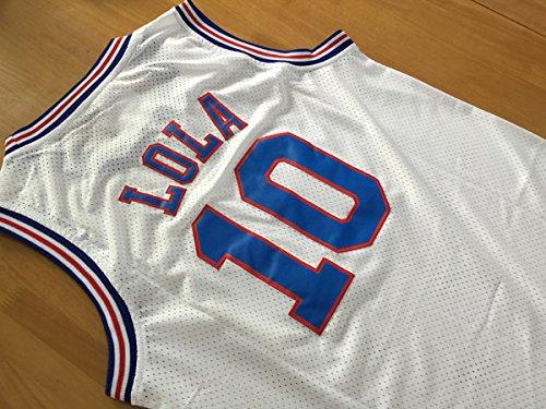 17491764eb77c6 Space Jam  10 Lola Bunny Basketball Jersey Tune Squad Looney Toones  Basketball Jerseys White (