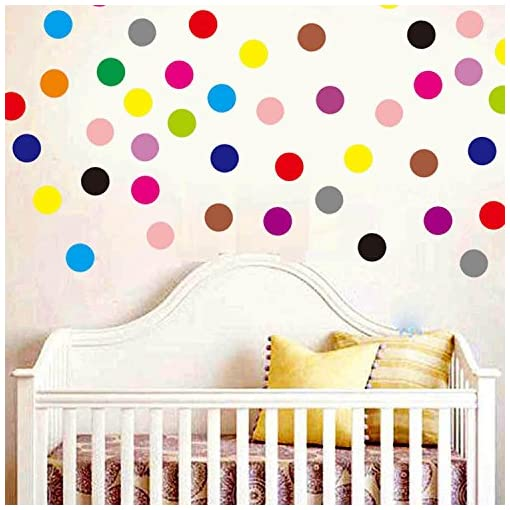 Set of 126 Polka Dot Wall Stickers Decal Childs Kids Vinyl Art Room Home Decor