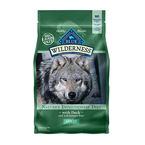 Blue Buffalo Wilderness High Protein Grain Free, Natural Adult Dry Dog Food, Duck 4.5-lb by BLUE Wilderness