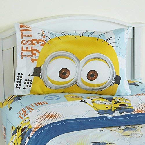 Minions Sheet Set 3 Piece Despicable Me Sheet Set Kids Bedding Twin Size by Universal