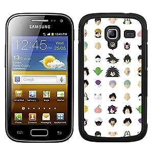Funda carcasa para Samsung Galaxy Ace 2 diseño bola de dragón estampado borde negro