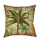 Best Thumbprintz Pillows - Single Piece Red Green Gold Thumbprintz Palm Tropical Review