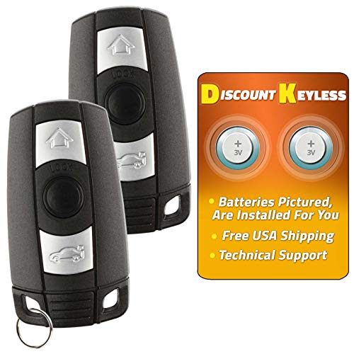 Price comparison product image Discount Keyless Replacement Uncut Smart Remote Fob Key Compatible with KR55WK49127,  KR55WK49123 (2 Pack)