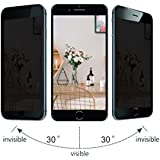 Yunqin Privacy Screen Protector Compatible With iPhone 6 Plus/iPhone 6s Plus, Anti Spy Screen Protector iphone 6s Plus, Yunqin Privacy Tempered Glass, 3D Full Coverage. (black)