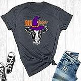 Boo Heifer Halloween Cow Shirt, Halloween Shirts Cow T-Shirt, Fall Tee, Holiday T-Shirts