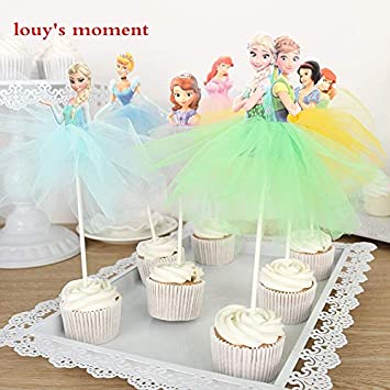 Outstanding Cake Topper Whole Sale 10 X Handmade Princess Cupcake Toppers Birthday Cards Printable Inklcafe Filternl