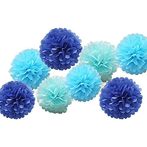 Clearance Sale!UMFun 9pcs Tissue Paper Pompoms Flower Balls Fluffy Christmas Wedding Party Decoration -