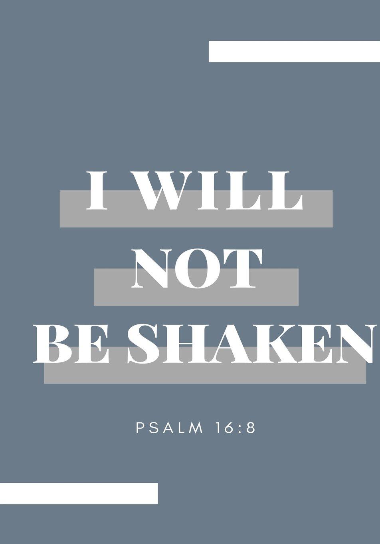 Read Online I Will Not Be Shaken: Prayer Journal, Notebook With Prompts, 7x10, Blue (Elite Prayer Journal) ebook