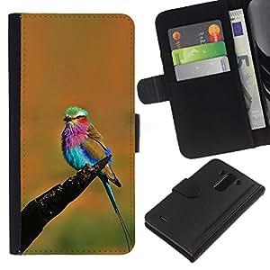 Stuss Case / Funda Carcasa PU de Cuero - Colorido pájaro del verano - LG G3