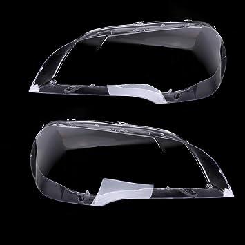 Kkmoon Auto Scheinwerfer Abdeckung Linsenabdeckung Klare Scheinwerferschutz Schutzabdeckung Scheinwerferschirm Ersatz Für Bmw X5 E70 2008 2013 Auto