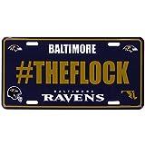 Siskiyou NFL Baltimore Ravens Hashtag License Plate