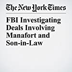 FBI Investigating Deals Involving Manafort and Son-in-Law | Mike McIntire