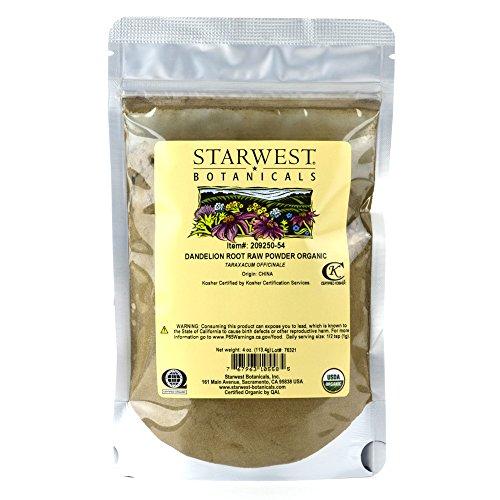 Starwest Botanicals Organic Dandelion Root Powder, 4 ()