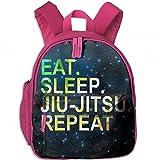Colorido Eat Sleep Jiu Jitsu Repeat - Mochila de viaje ligera para niños, Rosado, Una talla