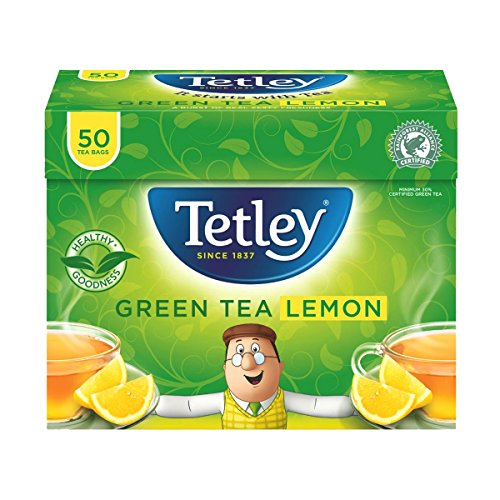 Tetley Green Tea with Lemon Teabags (Tetley Lemon Tea)
