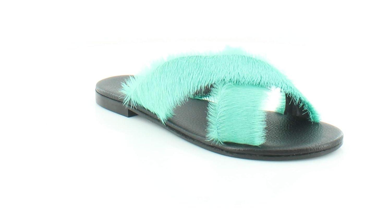 Emerald Avec Moderation Womens St. Tropez Leather Pony Hair Slide Sandals