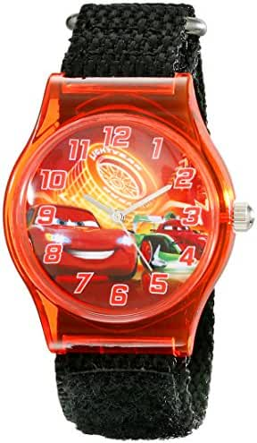 Disney Kids' W001710 Cars Analog Display Analog Quartz Black Watch