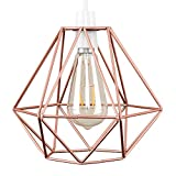 Retro Style Copper Metal Basket Cage Ceiling Pendant Light Shad